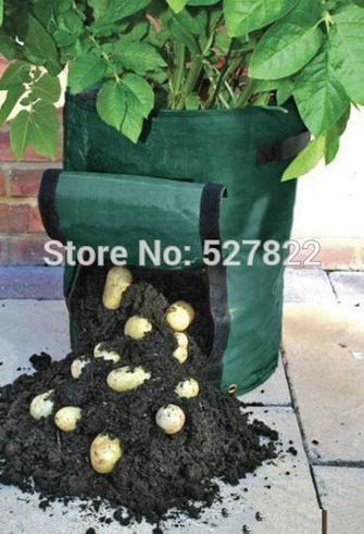 Planting Bag, Plant Pots for Potatoes You do not need a big garden before planting, This compact and lightweight planting bags can let you in anywhere (stairs, balcony, roof, corner, or on your wall ) you want to plant vegetables, fruits, herbs planted. This is a repeated use, economical, strong and practical cultivation bags!