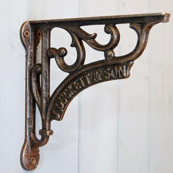 Bowley & Jackson Traditional ornate iron hanging basket & shelf bracket vintage Duckett design Bowley & Jackson