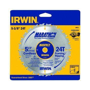 "Irwin Marathon 14017 5-3/8"""" 24T Cordless Circular Saw Blade"