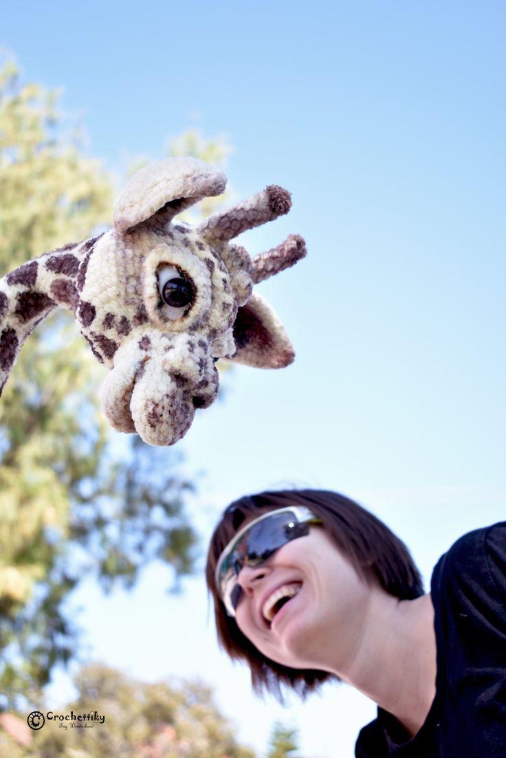 Crochettiky Jane the Giraffe and Natali