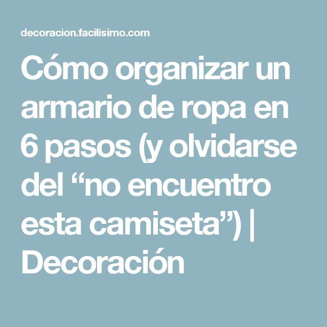 M s de 25 ideas incre bles sobre como organizar un armario - Como organizar un armario empotrado ...