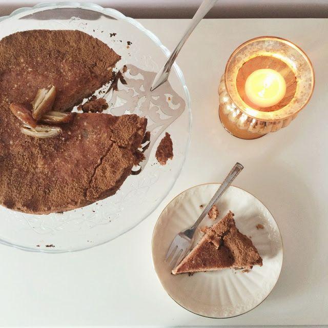 Vegan date & chocolate cheesecake