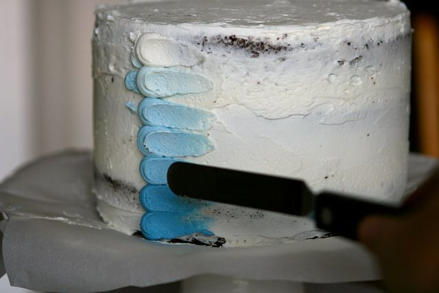 Blue Ombre Petal Cake by Hungry Housewife, via Flickr
