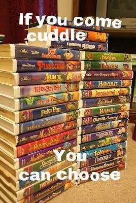 Disney movies + cuddling = perfect