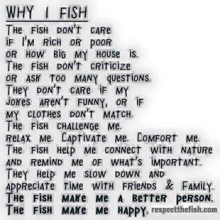 Very true... you should go fishing!