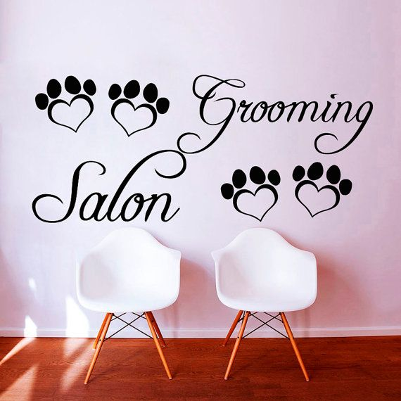 Wall Decals Dog Grooming Salon Decal Vinyl Sticker Pet Shop Home Decor Bedroom Interior Design Art Mural MN668