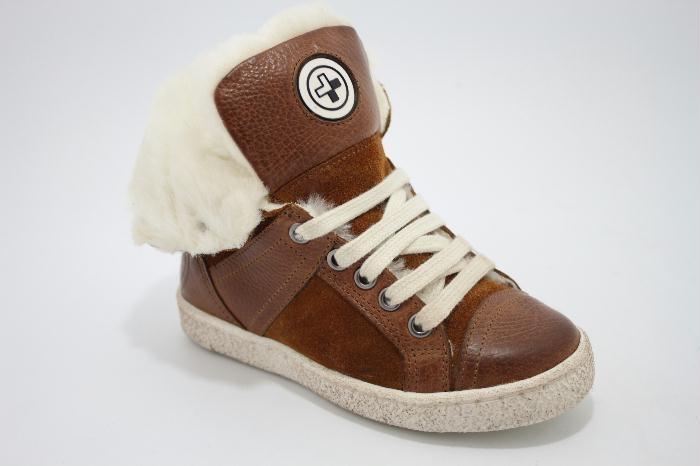 Metro sneaker voor kids met wol gevoerd.