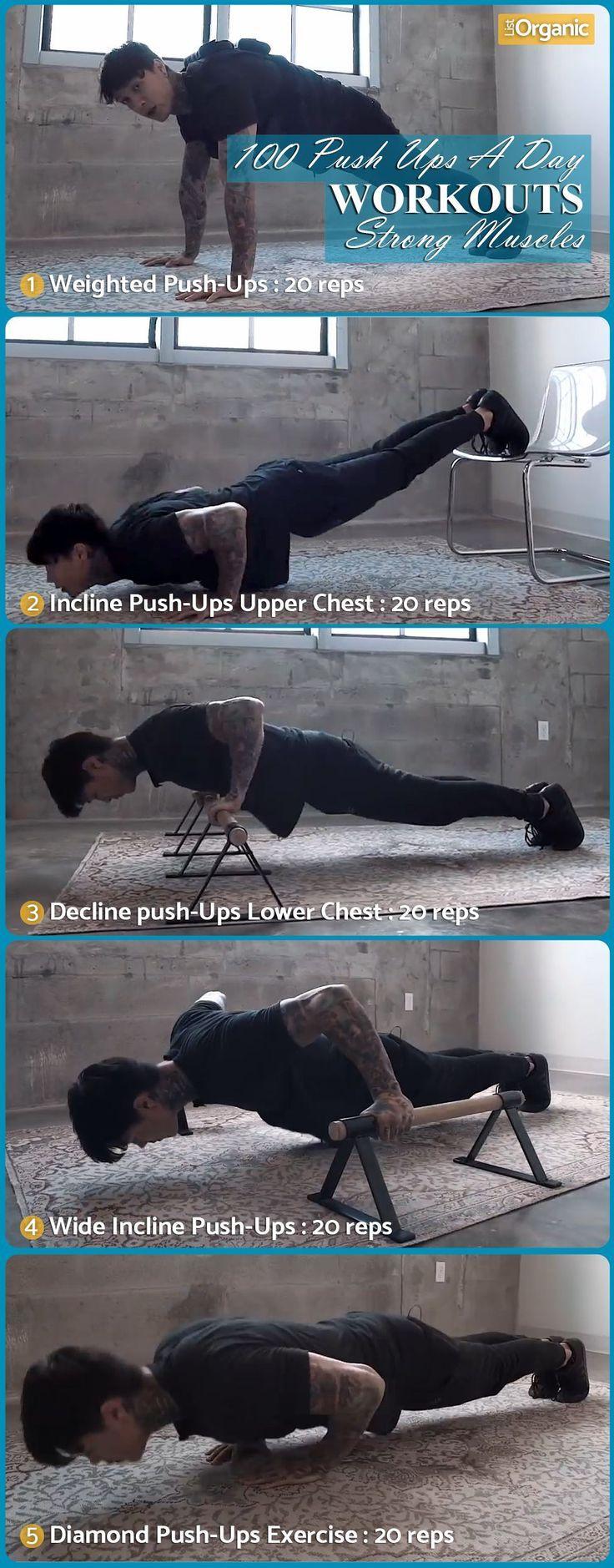 100 Push-Ups Sie erhalten jeden Tag starke Muskeln. #fitness #fitnessmotivation …