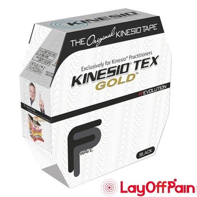 "Fabrication Enterprises - 24-4883 - Kinesio Tape, Tex Gold FP, 2"" x 34 yds, Black, Bulk Roll"
