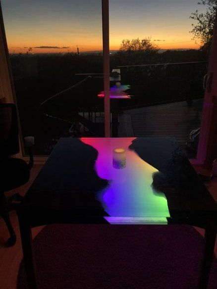 Glowing LED Resin River Table with Tutorial