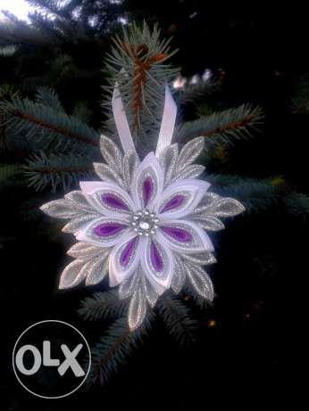 Rękodzieło 6 szt.Śnieżynki Aniołki Ozdoby Świąteczne Choinkowe Ciechanów - image 3