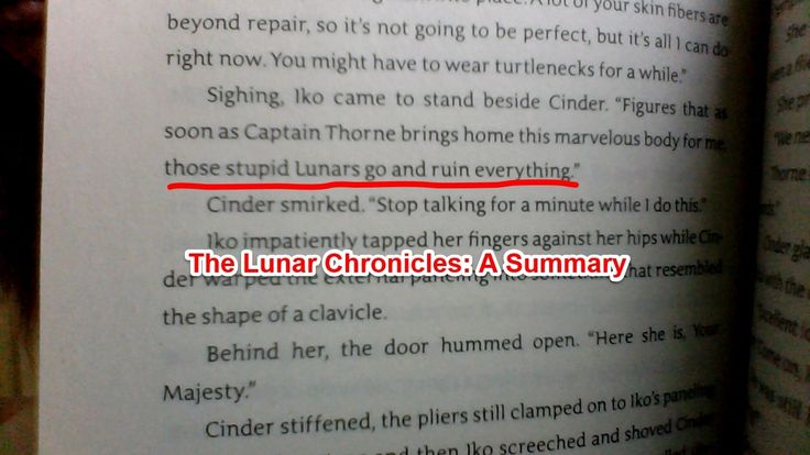 The lunar chronicles a summary
