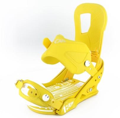 Burton Cartel Snowboard Bindings - mustard/white - Snowboard Shop > Snowboard Bindings > Men's Snowboard Bindings size M.