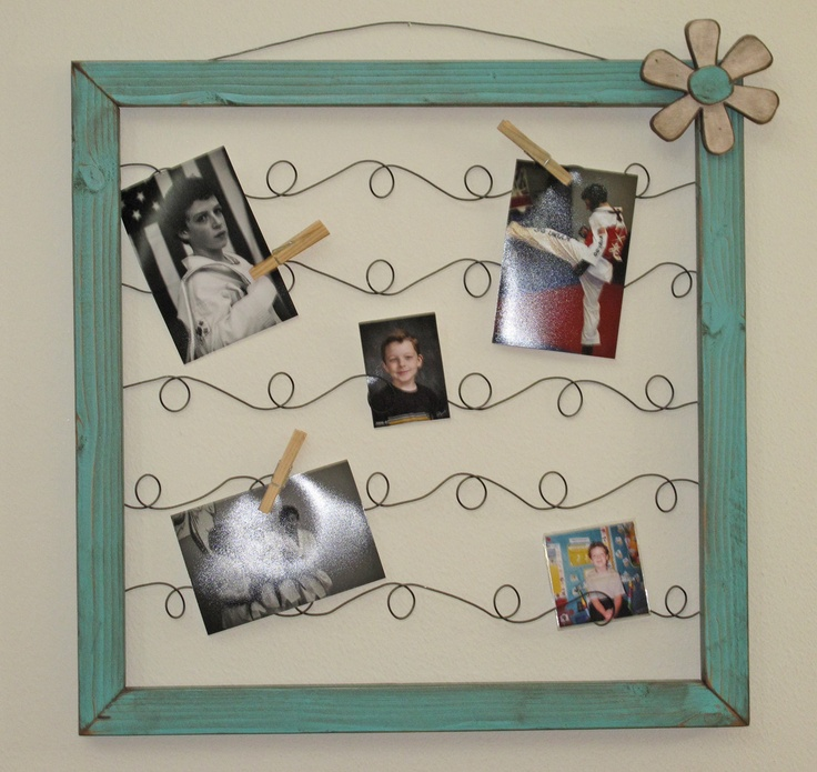 this is so cute...love the curly wires instead of straight...stretcher bars are cheaply purchased from any crafts store...drill the holes, add the wire, paint