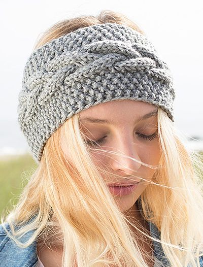 Free Knitting Pattern for Calisson Headband