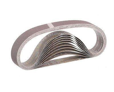 Makita 10-Pack 1-1/8 in. x 21 in. 120-Grit Abrasive Belt  Power Sander Accessory