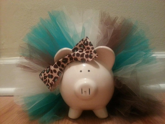 Tutu Piggy Bank by TuTuCutee on Etsy, $15.00
