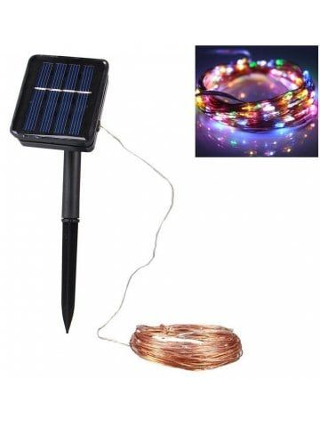 1PC 10M Solar Copper Wire String Light 2 Modes LED Fairy String