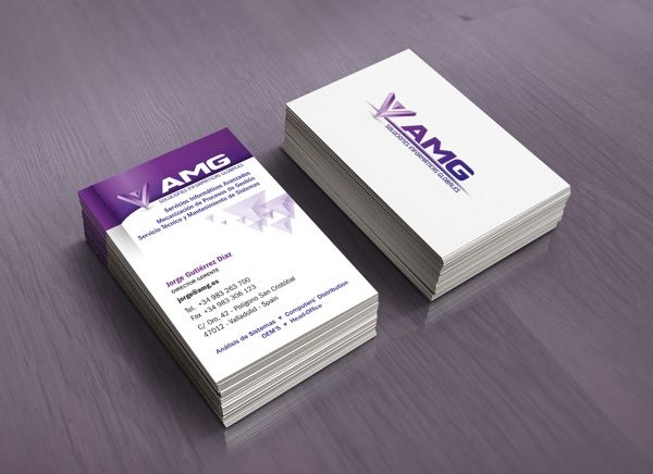 Diseño de tarjeta corporativa para AMG