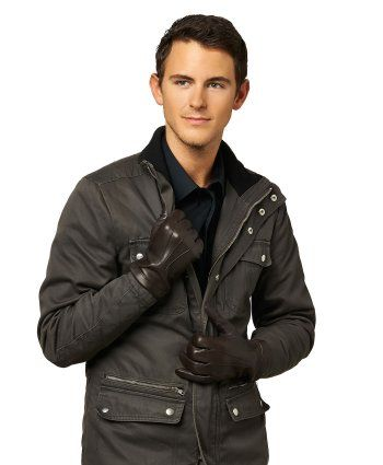 Men's Italian Cashmere Lined Touchscreen Leather Gloves