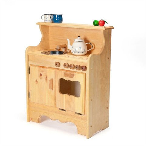 Jennys Kitchen Is An Adorable And Compact Wooden Play Kitchen With Everything Needed To Get Your Little One Cooking Young Children Love To Imitate The