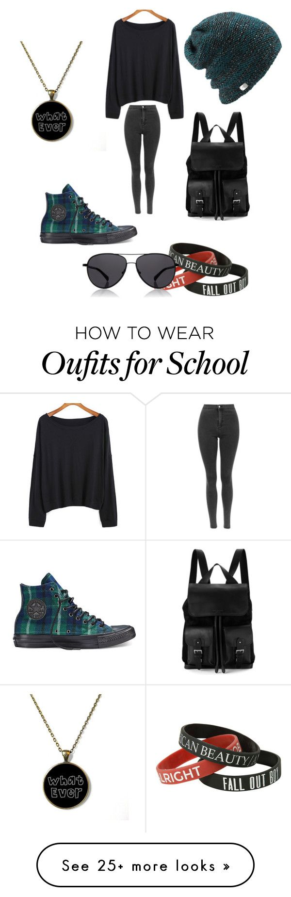 """school"" by scar-back-rose on Polyvore featuring Converse, Aspinal of London, Coal and The Row"