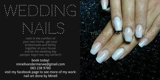 wedding nails handpainted nail art