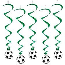 Football Ball Hanging Whirls (pack of 5 whirls)
