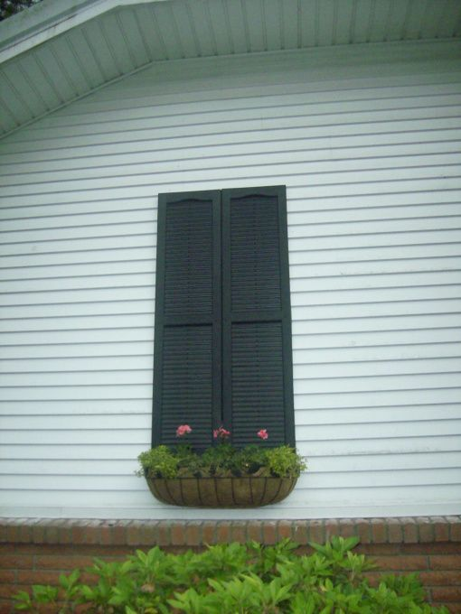 Quick Project For A Blank Wall Shutter Amp Window Box Idea