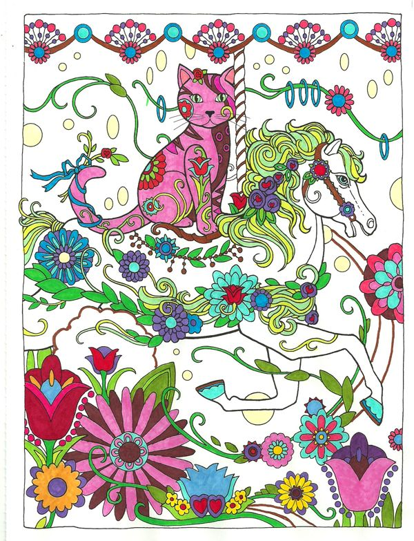 From Creative Cats Dover Haven Colored By Michele Hauf Adult ColoringColoring BooksColouringBohemian