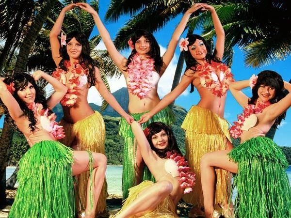 Гавайский народный женский костюм
