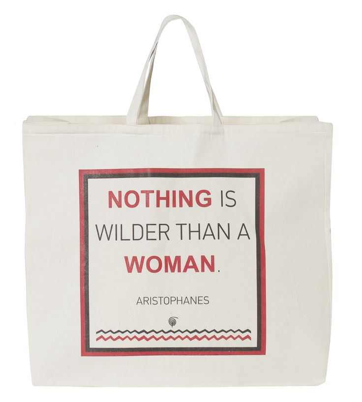Beach Bag Woman: Nothing is wilder than a woman. Aristophanes.