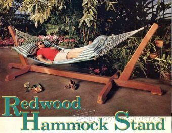 Overhead Shading Hammock Stand Plans - Outdoor Plans and Projects | WoodArchivist.com
