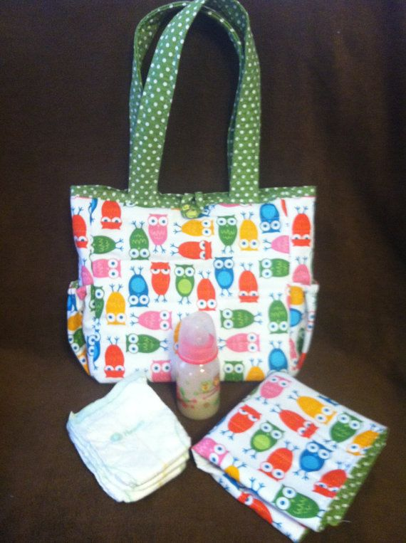 Quilted Baby Doll Diaper Bag Owls By Needies On Etsy 29