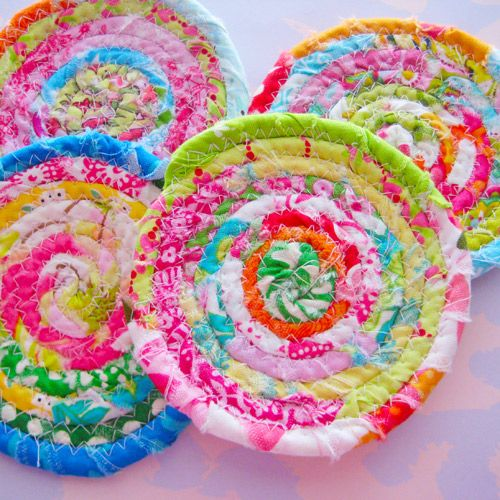 cute rag-ruggy coasters but not good detailed instructions~