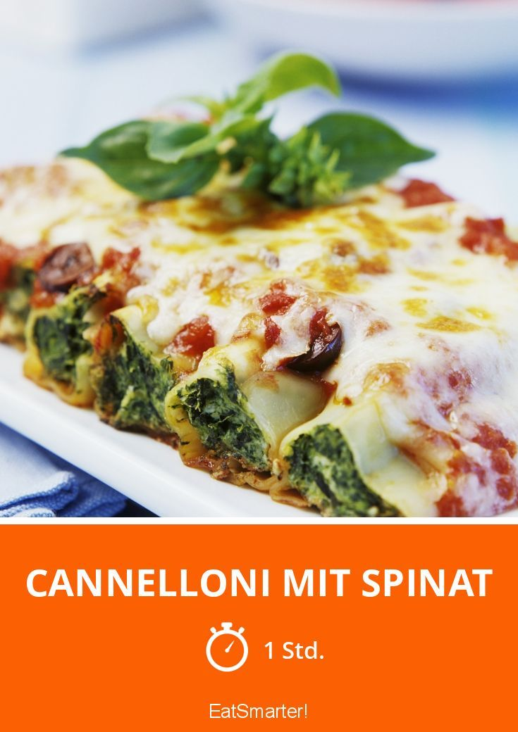 Cannelloni mit Spinat - smarter - Zeit: 1 Std. | eatsmarter.de