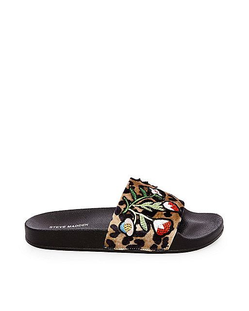 PATCHES by Steve Madden are the most glamorous slides yet.