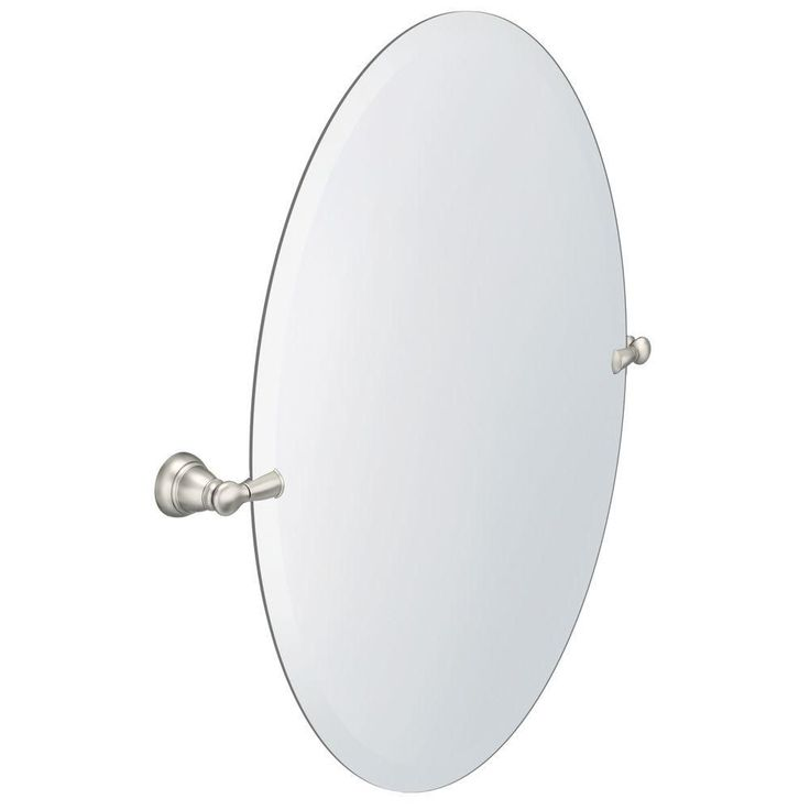 Frameless Pivoting Wall Mirror In Brushed Nickel