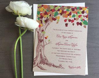 10 kraft matrimonio sera invito / rustico matrimonio sera