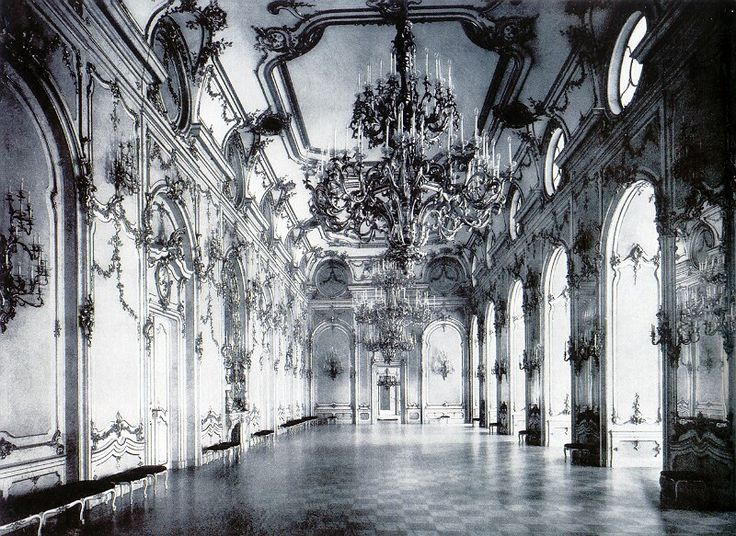 Ceremonial hall in the Buda Castle, 1896