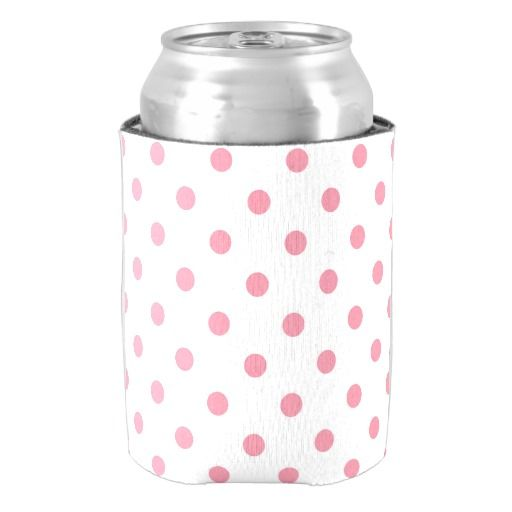 Bottle can holder : pink, white can cooler