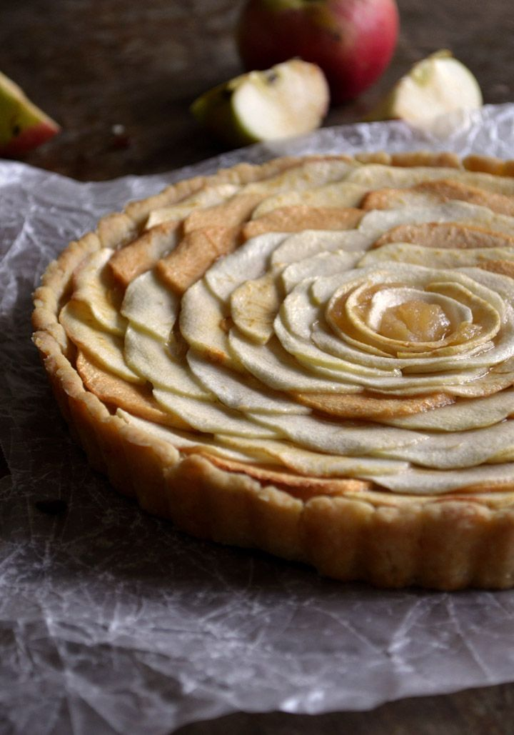 French Apple Tart | Pass the Cocoa: A lighter, more elegant take on the traditional apple pie. Delicious, surprisingly easy to assemble, and sure to wow!