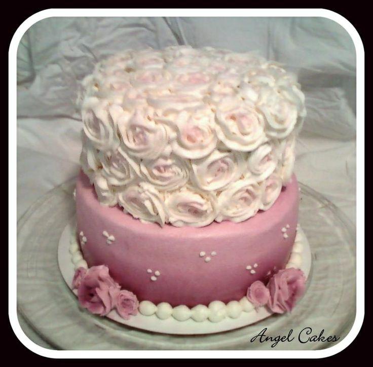 Beautiful 60th Birthday Cake Moms All Buttercream
