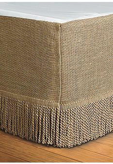 Home Accents® Burlap King Bedskirt 78-in. x 80-in. + 15-in. Drop