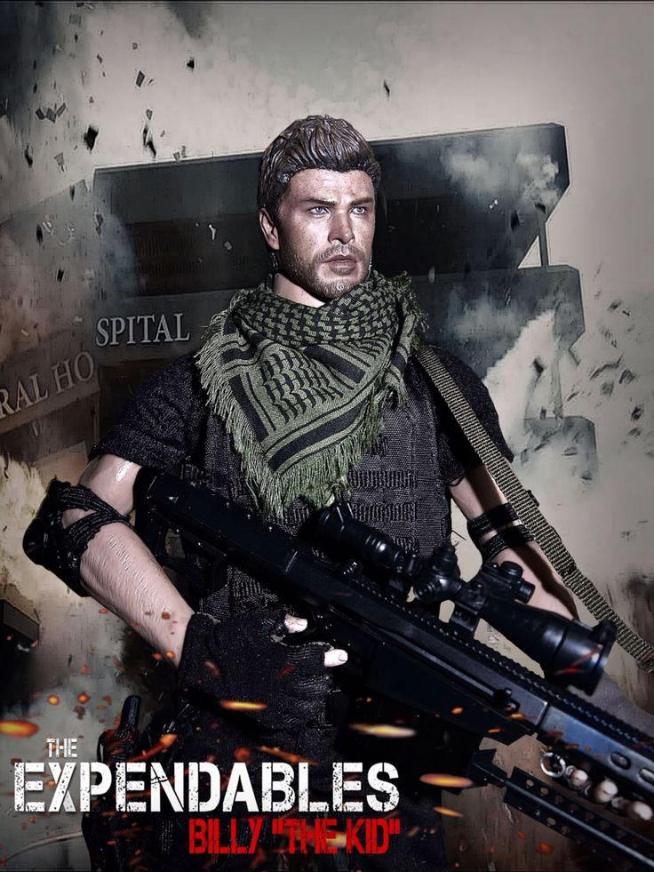 "The Expendables: Billy ""The Kid"" 1/6 Costom Kitbash #Expendables"