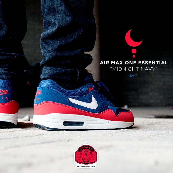 "#nike #nikeairmax #nikeairmaxone #midnightnavy #sneakerbaas #baasbovenbaas  Nike Air Max One ""Midnight Navy"" - Now available - Priced at 134.99 Euro  For more info about your order please send an e-mail to webshop #sneakerbaas.com!"