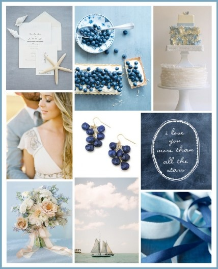 """Indigo, cobalt, and navy make up this beautiful blue and white palette.    #Ruffled for #TheLab2013: http://ruffledblog.com/the-lab-event-giveaway"""""""