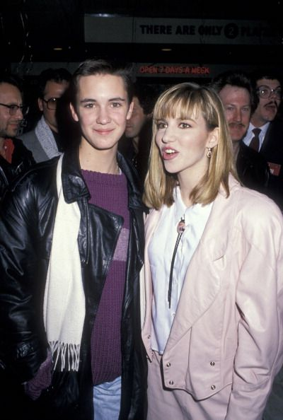 Actor Wil Wheaton and singer Debbie Gibson attending Debbie Gibson Record Release Party on January 12 1989 at Ed Debevic's Restaurant in Beverly...