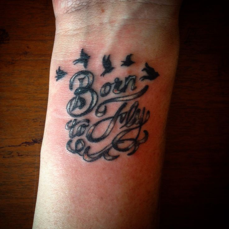 Born to fly tattoo for Leanka done by me Chop Shop Tattoos - Charlane Powell