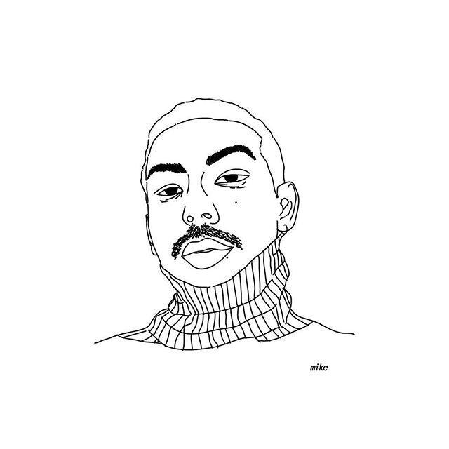 Mike  #proyecto89 #digitalart #digitalillustration #illustration #illustrator #coolpeople #humans #rad #radness #blackandwhite #draw #drawings #darling #babe #turtleneck #onfleek #face